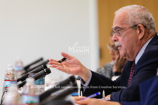 U.S. Rep. Gerald Connolly, D-Va., Chairman of the Subcommittee on Government Operations, speaks during a hearing at George Mason University on the effects of the government shutdown on contract employees. Photo by Lathan Goumas/Strategic CommunicationsPhoto by Lathan Goumas/Strategic Communications