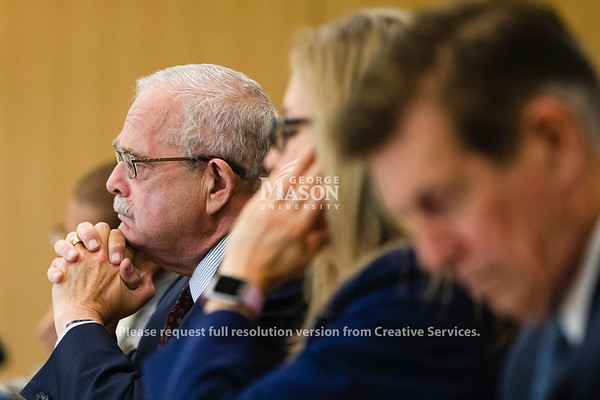 U.S. Rep. Gerald Connolly, D-Va., Chairman of the Subcommittee on Government Operations, listens during a hearing at George Mason University on the effects of the government shutdown on contract employees. Photo by Lathan Goumas/Strategic Communications