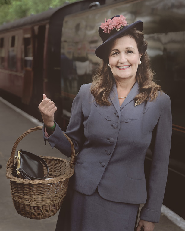 1940's Lady at ELR Bury