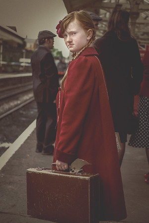 Little girl on East Lancs platform