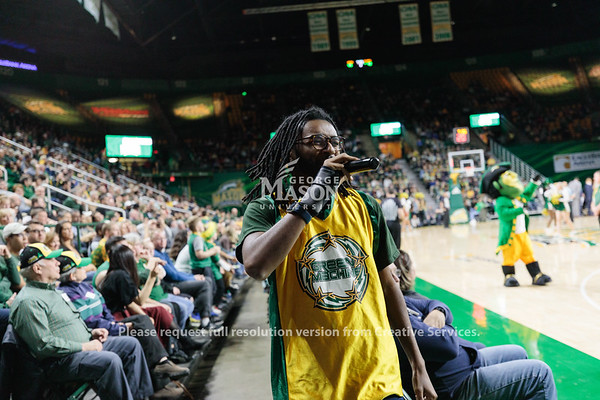 The Green Machine performs during the Men's Basketball Homecoming 2020 game against Saint Joseph's. Photo By Ian Shiff/Creative Services/George Mason University