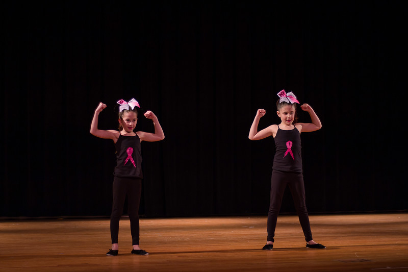 Roula Bachas and Leah Horowitz dancing to Fight Song supporting breast cancer