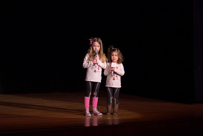 Sisters Josephine and Coraline O'Brien singing