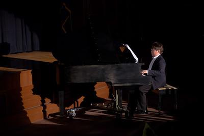 Jimmy Gallivan playing the piano
