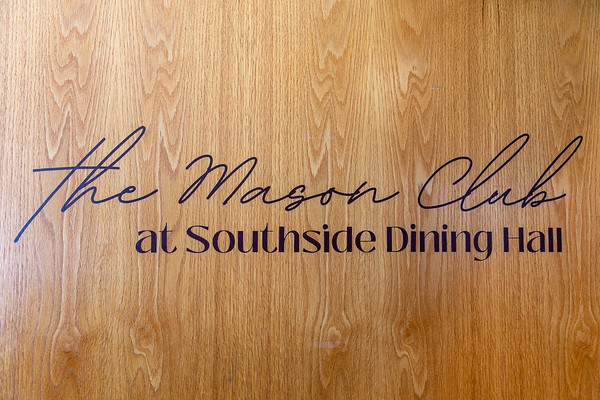 The Mason Club reopens on Sept. 7 in the Blackstone Room at Southside Dining Hall to provide faculty and staff an inviting, comfortable and private eating experience.  Photo by: Shelby Burgess/Strategic Communications/George Mason University