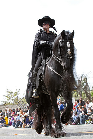 Don Diego de la Vega (Zorro) at the Swallows Parade in San Juan Capistrano, CA