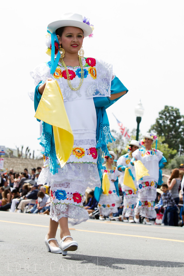 2012 Swallows' Day Parade, part of San Juan Capistrano's annual Fiesta de las Golondrinas (Festival of the Swallow) to celebrate the legend of the return of the swallows to the San Juan Capistrano Mission. The parade is the nation's largest non-motorized parade.