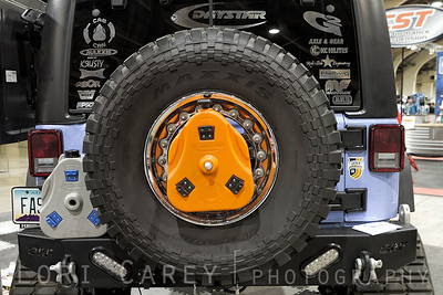 Daystar's Cam Can mounted on a Jeep Wrangler JK spare tire Lucas Oil Offroad Expo Pomona, CA  05-06 October 2013