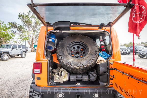 Baja-influenced Interior spare tire carrier Gate Keeper by Excessive Industries