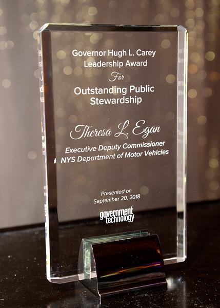 GTC Albany, NY   Hugh Carey Award Theresa Egan Exec Deputy Commissioner NYS DMV