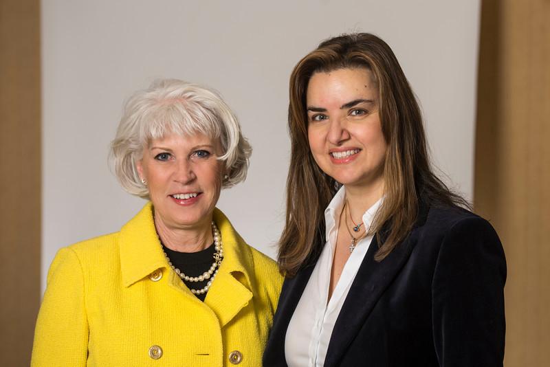 Jolanda Janczewski and Dean Peggy Agouris
