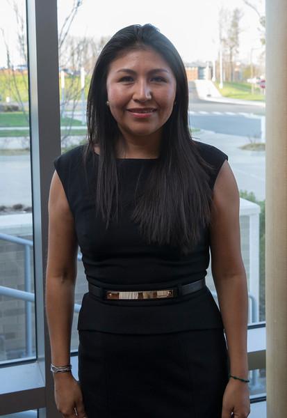 Laydy Reyes, winner of the distinguished latino alumni award, during the Celebration of Distinction at the Mason Inn. Photo by Craig Bisacre/Creative Services/George Mason University