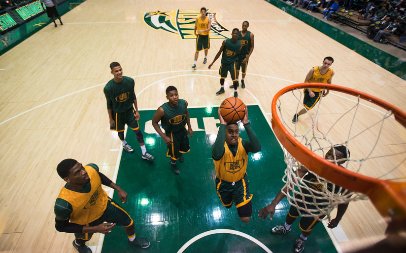 2014 Mason Madness at the Patriot Center. Photo by Craig Bisacre/Creative Services/George Mason University