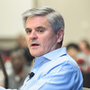 Steve Case, chairman and CEO of Washington-based investment firm Revolution LLC and a co-founder of America Online, came to Arlington Campus and helped lead a conversation about how the university can get the most value from campus developments.  Photo by:  Ron Aira/Creative Services/George Mason University