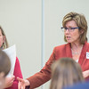 Attendees brainstorm about branding, academic priorities and new facility needs in Arlington Campus.   Photo by:  Ron Aira/Creative Services/George Mason University