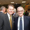 David Rehr, Senior Associate Dean & Professor, Antonin Scalia Law School and Vernon L. Smith, Nobel Laureate, at the James M. Buchanan and Vernon L. Smith Dedication at George Mason University Arlington Campus.  Photo by:  Ron Aira/Creative Services/George Mason University