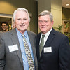Richard Fink, Mercatus Center's Board of Directors and Steven Dillingham, Associate University Registrar, at the James M. Buchanan and Vernon L. Smith Dedication at George Mason University Arlington Campus.  Photo by:  Ron Aira/Creative Services/George Mason University