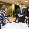 Guests arrive to the James M. Buchanan and Vernon L. Smith Dedication at George Mason University Arlington Campus.  Photo by:  Ron Aira/Creative Services/George Mason University
