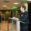 Deborah Boehm-Davis, Dean, College of Humanities and Social Sciences, at the James M. Buchanan and Vernon L. Smith Dedication at George Mason University Arlington Campus.  Photo by:  Ron Aira/Creative Services/George Mason University