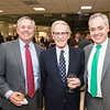 Hernry N. Butler, Dean, Professor of Law, Antonin Scalia Law School, Vernon L. Smith, Nobel Laureate and Ángel Cabrera, president, at the James M. Buchanan and Vernon L. Smith Dedication at George Mason University Arlington Campus.  Photo by:  Ron Aira/Creative Services/George Mason University