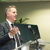 Daniel Houser, Director/Professor/Chair, Economics, Interdisciplinary Center for Economic Science at the James M. Buchanan and Vernon L. Smith Dedication at George Mason University Arlington Campus.  Photo by:  Ron Aira/Creative Services/George Mason University