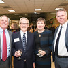 Hernry N. Butler, Dean, Professor of Law, Antonin Scalia Law School, Vernon L. Smith, Nobel Laureate, Deborah Boehm-Davis, Dean, College of Humanities and Social Sciences and Daniel Houser, Director/Professor/Chair, Economics, Interdisciplinary Center for Economic Science, at the James M. Buchanan and Vernon L. Smith Dedication at George Mason University Arlington Campus.  Photo by:  Ron Aira/Creative Services/George Mason University