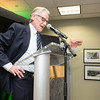Vernon L. Smith, Nobel Laureate at the James M. Buchanan and Vernon L. Smith Dedication at George Mason University Arlington Campus.  Photo by:  Ron Aira/Creative Services/George Mason University