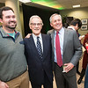 Vernon L. Smith, Nobel Laureate, Henry N. Butler, Dean, Professor of Law, Antonin Scalia Law School and student at the the James M. Buchanan and Vernon L. Smith Dedication at George Mason University Arlington Campus.  Photo by:  Ron Aira/Creative Services/George Mason University