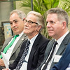 Vernon L. Smith, Nobel Laureate, at the James M. Buchanan and Vernon L. Smith Dedication at George Mason University Arlington Campus.  Photo by:  Ron Aira/Creative Services/George Mason University