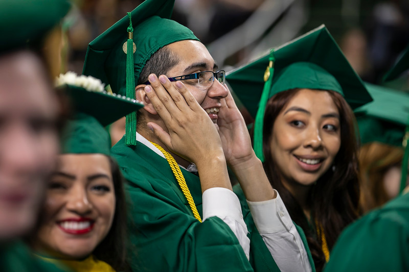 Commencement 2019.  Photo by:  Ron Aira/Creative Services/George Mason University
