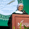 Commencement speaker Deputy Secretary-General of the United Nations Amina J. Mohammed speaks during Commencement 2019.  Photo by:  Ron Aira/Creative Services/George Mason University