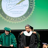Zainab Salbi receives an Honorary Degree during Winter Graduation 2019.  Photo by:  Ron Aira/Creative Services/George Mason University