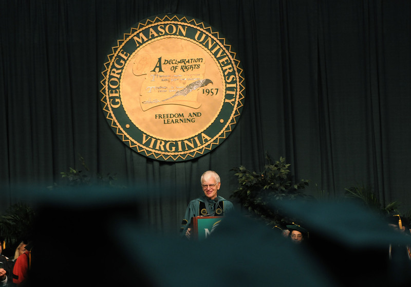 President Merten addresses the 2011 graduating class. Photo by Evan Cantwell