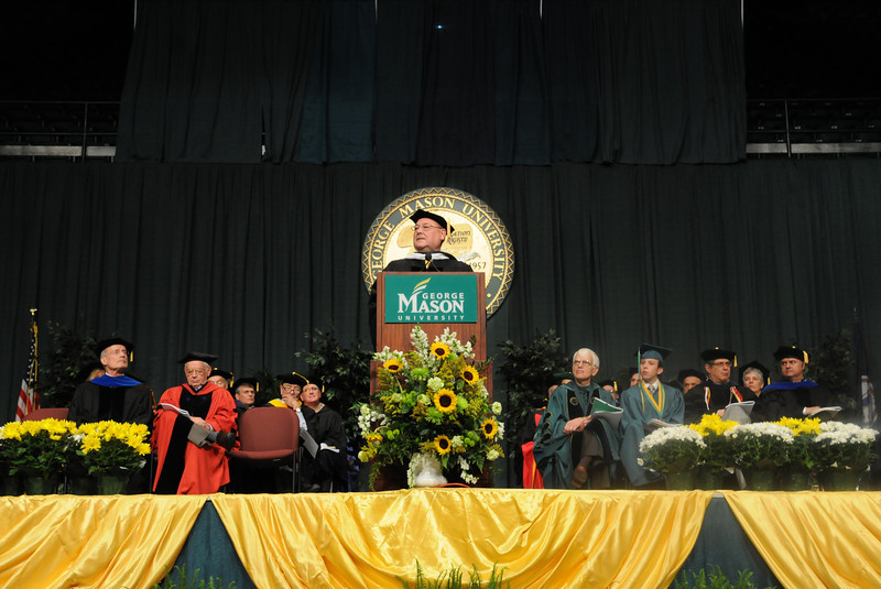 Thad Allen addresses the 2011 graduating class. Photo by Evan Cantwell