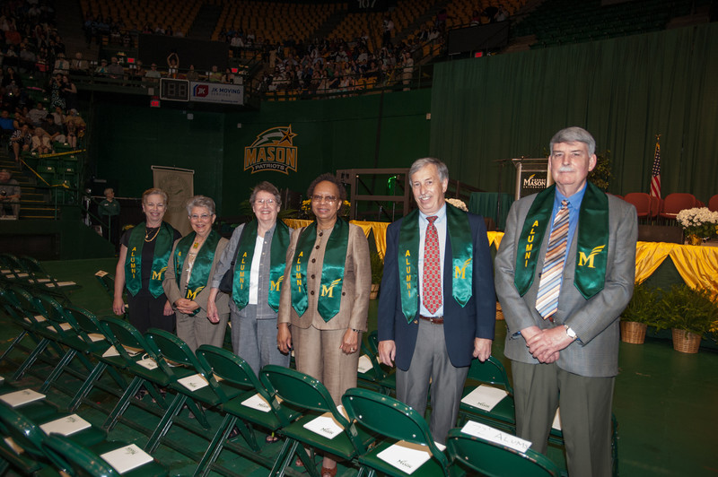 Members of the Class of 1972 attend Commencement 2012. Photo by Alexis Glenn/Creative Services/George Mason University