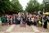 2014 Grad Toast near the Mason Statue. Photo by Craig Bisacre/Creative Services/George Mason University