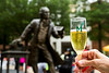 2014 Grad Toast near the Mason Statue. Photo by Craig Bisacre/Creative Services/George Mason University