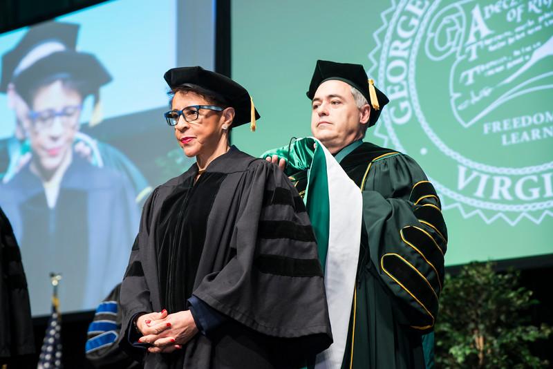 2016 Winter Graduation at the Fairfax Campus.  Photo by:  Ron Aira/Creative Services/George Mason University