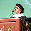 Sheila C. Johnson, Co-Founder, BET; CEO, Salamander Hotels & Resorts, speaks during the 2016 Winter Graduation at the Fairfax Campus.  Photo by:  Ron Aira/Creative Services/George Mason University