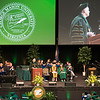 President Ángel Cabrera speaks during the 2017 Winter Graduation at the Fairfax Campus.  Photo by Bethany Camp/Creative Services/George Mason University