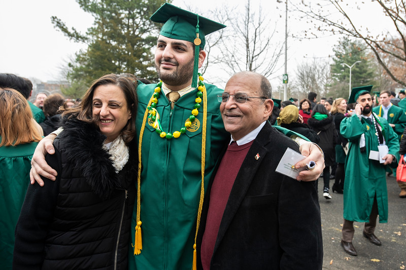 Families 2018 Winter Graduation. Photo by:  Ron Aira/Creative Services/George Mason University