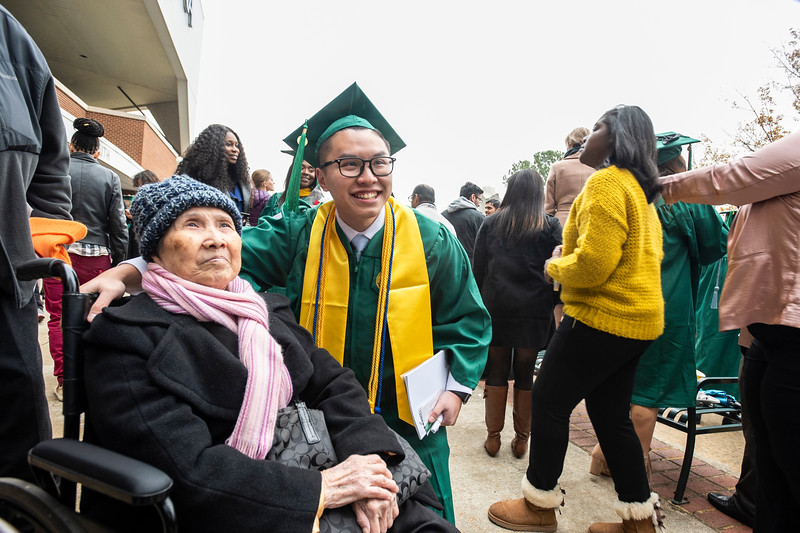 Families 2018 Winter Graduation. Photo by:  Ron Aira/Creative Services/George Mason University