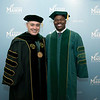 President Ángel Cabrera and Drexel University Executive Vice President for Academic Affairs and Nina Henderson Provost M. Brian Blake at Winter Graduation 2018. Photo by Bethany Camp/Creative Services/George Mason University