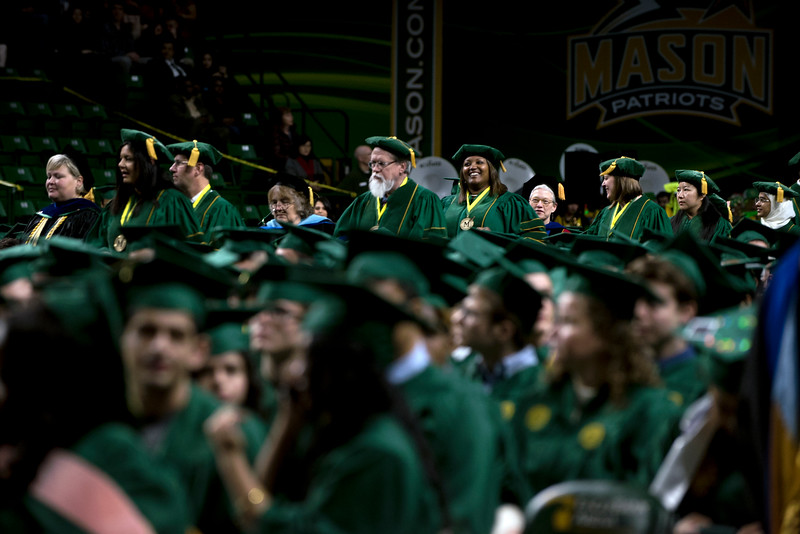 2018 Winter Graduation Processional. Photo by Bethany Camp/Creative Services/George Mason University