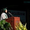 Master of Education, Curriculum and Instruction student Jehad Halawani gives the graduate address during the 2018 Winter Graduation at the Fairfax Campus.  Photo by Bethany Camp/Creative Services/George Mason University