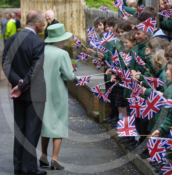 Queen's visit, Melrose, Scottish Borders