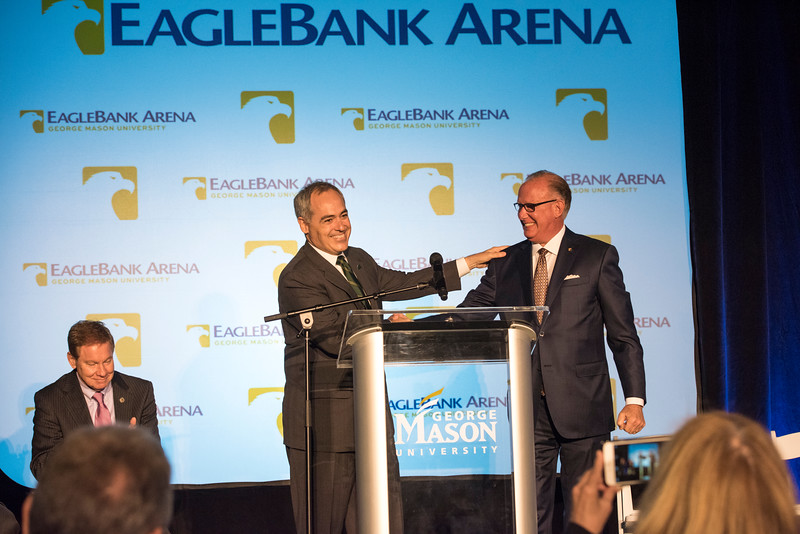 Naming of EagleBank Arena at George Mason University