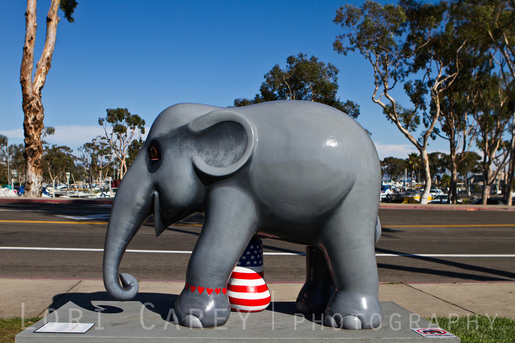 Elephant Parade: Welcome to America<br /> We Love Mosha | USA by Thiti Suwan<br /> Dana Point, California, USA<br /> <br /> Elephant Parade is an open air art exhibition designed to raise public awareness and support for the cause of elephant conservation. Making their first US appearance thirty life-sized baby elephants will be on display throughout Dana Point from August 23 through November 7 2013.