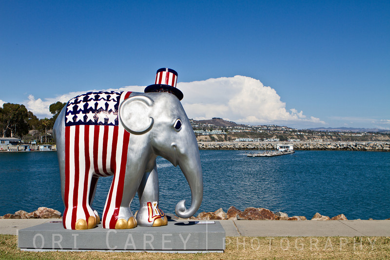Elephant Parade: Welcome to America<br /> Triumph of Liberty by Sona Mirzaei<br /> Dana Point, California, USA<br /> <br /> Elephant Parade is an open air art exhibition designed to raise public awareness and support for the cause of elephant conservation. Making their first US appearance thirty life-sized baby elephants will be on display throughout Dana Point from August 23 through November 7 2013.