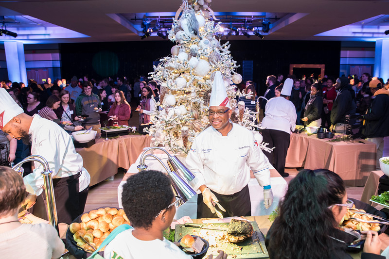 George Mason University celebrates its Holiday Party in Dewberry Hall, Johnson Center.  Photo by:  Ron Aira/Creative Services/George Mason University